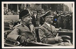 AK/CP  Hitler  Und Mussolini  Duce    Propaganda Nazi Gel/circ  1937    Erhaltung/Cond. 2  Nr. 00927 - War 1939-45