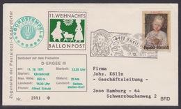 11. Ballonpost Österreich Christkindl Weihnachten 1971 - FDC