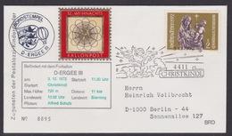 12. Ballonpost Österreich Christkindl Weihnachten 1972 - FDC