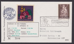 14. Ballonpost Österreich Christkindl Weihnachten 1974 - FDC