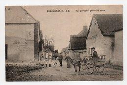 - CPA CROISILLES (28) - Rue Principale, Prise Côté Ouest (belle Animation) - Edition Bétron - Photo Piquet - - France