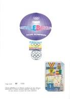 ENCART PHILATELIQUE ET TELECARTE / DOCUMENT N°6 / VILLES OLYMPIQUES ALBERTVILLE BARCELONE / 1992 / N° 1209 - Giochi Olimpici