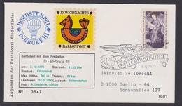15. Ballonpost Österreich Christkindl Weihnachten 1975 - FDC
