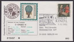 22. Ballonpost Österreich Christkindl Weihnachten 1982 - FDC