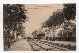 - CPA BAGNOLS (30) - La Gare Au Train De 5 Heures 1907 (avec Personnages) - Edition Artige 5578 - - Bagnols-sur-Cèze