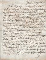 1806 - CETTE (34) L.S. Me FELIEU Née FOUTTAND ? à M. DESMAZES à St LAURENT DE LA SALANQUE (66) - Historische Documenten
