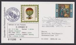 24. Ballonpost Österreich Christkindl Weihnachten 1984 - FDC