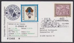 26. Ballonpost Österreich Christkindl Weihnachten 1986 - FDC