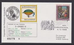 28. Ballonpost Österreich Christkindl Weihnachten 1988 - FDC