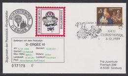 29. Ballonpost Österreich Christkindl Weihnachten 1989 - FDC