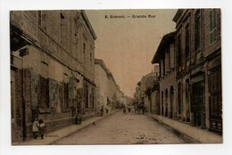 - CPA GIMONT (32) - Grande Rue (avec Personnages) - Collection Du Bazar Central N° 8 - - Francia