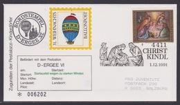 31. Ballonpost Österreich Christkindl Weihnachten 1991 - FDC