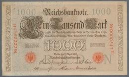 P44 Ro 45c DEU-40c  7 Chifres N°0000547  *** AUNC *** Lettre N  1000 Mark 1910 - [ 2] 1871-1918 : German Empire