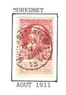 REF227/ TP 74 Coba T2 L C.Moresnet (Belge) 12-13 / 7 / Aout / 1911 - 1905 Thick Beard