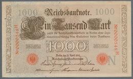 P44 Ro 45c DEU-40c  7 Chifres N°0000548  *** AUNC *** Lettre N  1000 Mark 1910 - [ 2] 1871-1918 : German Empire