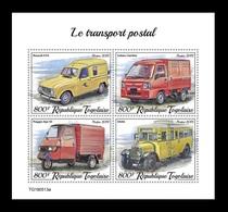 Togo 2019 Mih. 10656/59 Mail Transport. Automobiles MNH ** - Togo (1960-...)
