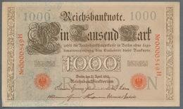 P44 Ro 45c DEU-40c  7 Chifres N°0000549  *** AUNC *** Lettre N  1000 Mark 1910 - [ 2] 1871-1918 : German Empire