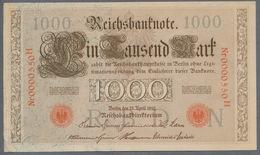 P44 Ro 45c DEU-40c  7 Chifres N°0000550  *** AUNC *** Lettre N  1000 Mark 1910 - [ 2] 1871-1918 : German Empire