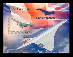 Togo 2019 Mih. 10665 (Bl.1926) Aviation. Supersonic Airliners Concorde MNH ** - Togo (1960-...)