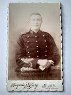 CDV NICE - Portrait Militaire Gradé Du 13 ème Régiment De Dragons - Photo Auguste Et Henry, Nice - TBE - War, Military