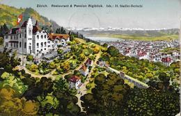 ZÜRICH → Restaurant Und Pension Rigiblick Anno 1913 - ZH Zurich