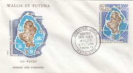 WALLIS ET FUTUNA - FDC ÎLE WALLIS - OBLITERATION 1er JOUR CARTES DES ÎLES 7.3.1978  / 1 - FDC