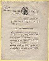 Prefet De La Manche - 4 Vendemiaire An 13 - Document Relatif A La Delivrance Des Passe-ports Pour Paris - Documents Historiques