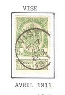 REF229/ TP 83 Coba T2 L C.Visé 16-17 / 22 / Avril / 1911 - 1893-1907 Armoiries