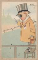 ILLUSTRATORE-PIPPO-CARTOLINA-CARICATURALE- NON VIAGGIATA -ANNO 1920 - Illustratori & Fotografie