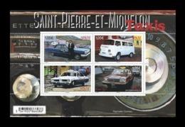 St. Pierre And Miquelon 2019 Mih. 1315/18 (Bl.37) Taxi Cars MNH ** - St.Pierre & Miquelon