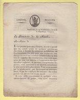 Prefet De La Manche - 29 Vendemiaire An 10 - Document Relatif A L Importation Et A L Exportation Avec Les Anglais - Documents Historiques