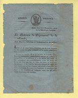 Prefet De La Manche - 8 Thermidor An 10 - Document Relatif A L Entretient Des Fours Et Ramonage Des Cheminees - Documents Historiques