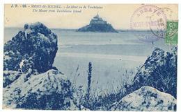 MONT-ST-MICHEL-VU DE TOMBELAINE-EN 1921-AVEC CACHET DE L'ABBAYE AU RECTO- - Le Mont Saint Michel