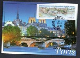 CARTE MAXIMUM --  CONGRES  SALON PHILATELIQUE   PARIS  2004 -LISA  0,45 - Maximum Cards