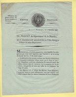 Prefet De La Manche - 11 Septembre 1806 - Affirmation Des Proces Verbaux Des Gardes Champetres Et Forestiers - Documents Historiques