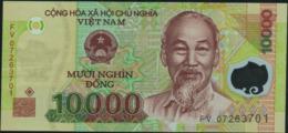 VIETNAM Viet Nam - 10.000 Dong 2007 {Polymer} UNC P.109 B - Viêt-Nam
