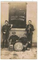 """Jazz-band / Carte-photo 1923 / Heerdt ? / """" Sur L'air Des 4 Mois De Rabiot """" - Musique Et Musiciens"""
