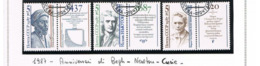 URSS - SG 5801.5803  - 1987 SCIENTIST  (COMPLET SET  OF 3 WITH LABELS)   - USED° - RIF. CP - Usati