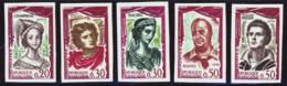 France Non Dentelés N°1301-1305 Comédiens Français 1961 (5 Valeurs) Qualité** - Frankreich