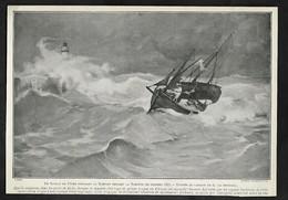 1904  -- LE TREPORT  ENTREE D UN BATEAU DE PECHE AU PORT TEMPETE DE 1887  3S169 - Vieux Papiers
