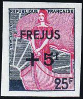 France Non Dentelés N°1229 + 5f Sur 25f  Vert Gris Et Rouge Marianne à La Nef Qualité** - Frankreich