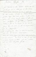1809 - BARCELONE (Espagne) Lettre à Mme ROHAULT Née D'AGUESSEAU à Paris - MIQUELETS - Historische Dokumente