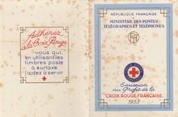 FRANCE - CARNET CROIX ROUGE 1953 - AVEC TRACE DE  ROUILLE   / 2 - Markenheftchen