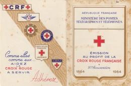 FRANCE - CARNET CROIX ROUGE 1954 - AVEC TRACE DE  ROUILLE   / 2 - Markenheftchen