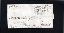 CG1 - Domaso - Doppio CerchioSardo Ital. + Bollo Araldico Sub Economo Benefici Vacanti - Lett. Per Garzeno 9/12/1861 - Italia