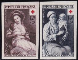 France Non Dentelés N°966-967 Croix Rouge 1953 Qualité** - Frankreich