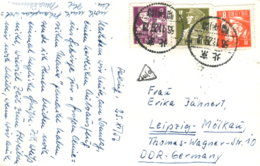China 298, 301/2 Auf Ansichtskarte - 1949 - ... République Populaire