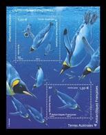TAAF 2019 Mih. 1057/58 (Bl.73) Fauna. King Penguins MNH ** - Ungebraucht