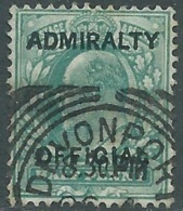 1903 GREAT BRITAIN USED OFFICIAL STAMPS O101 1/2d BLUE GREEN - RC1-7 - Servizio