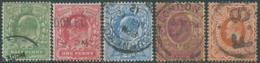 1911 GREAT BRITAIN USED KING EDWARD II 5 STAMPS - RC1-5 - Usati